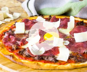 Recette Pizza Double Beef